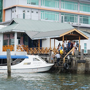 Departure from Sabah Jetty Parks to Selingan Island